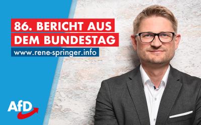 86. Bericht aus dem Bundestag