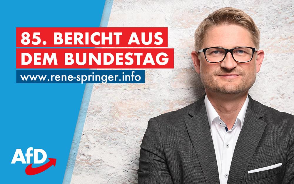 85. Bericht aus dem Bundestag